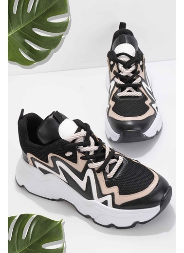 Bambi Kadın Sneaker K01813001065 Siyah